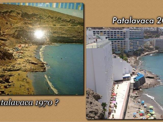 Patalavaca før og nå Gran Canaria
