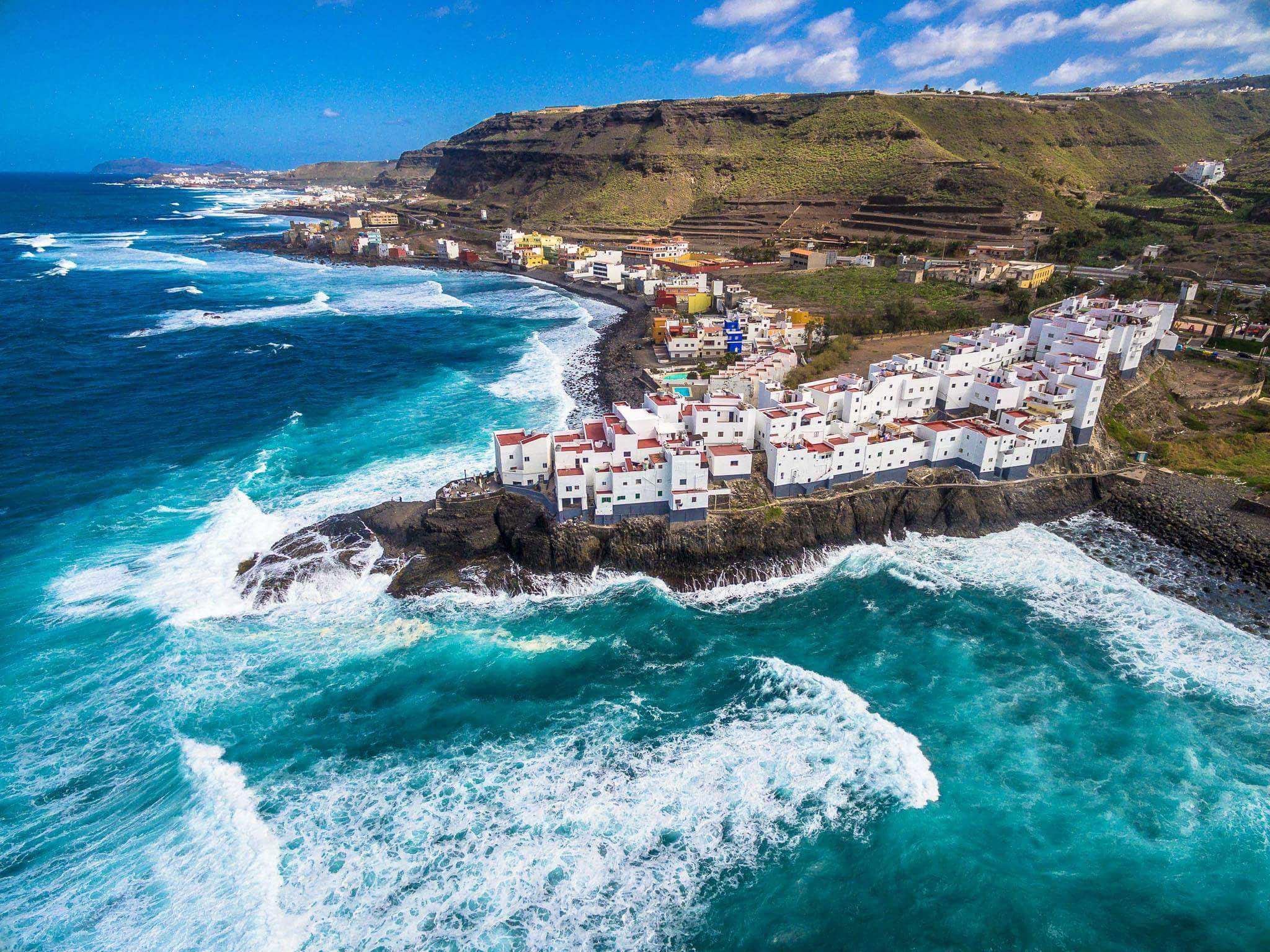 El Roque Landsbyen som ble hvit