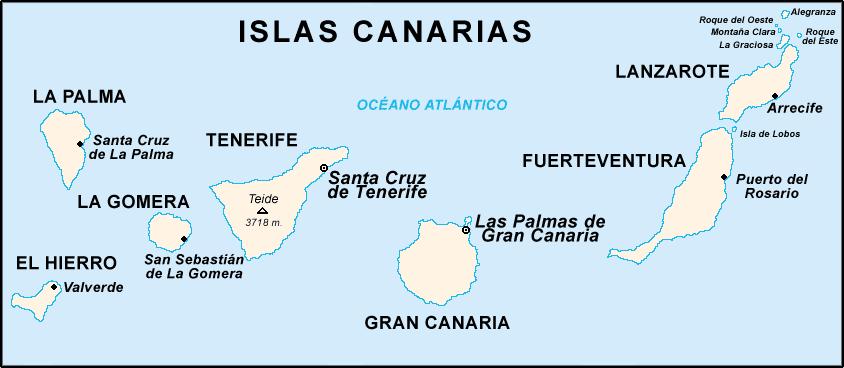 Kart Kanariøyene