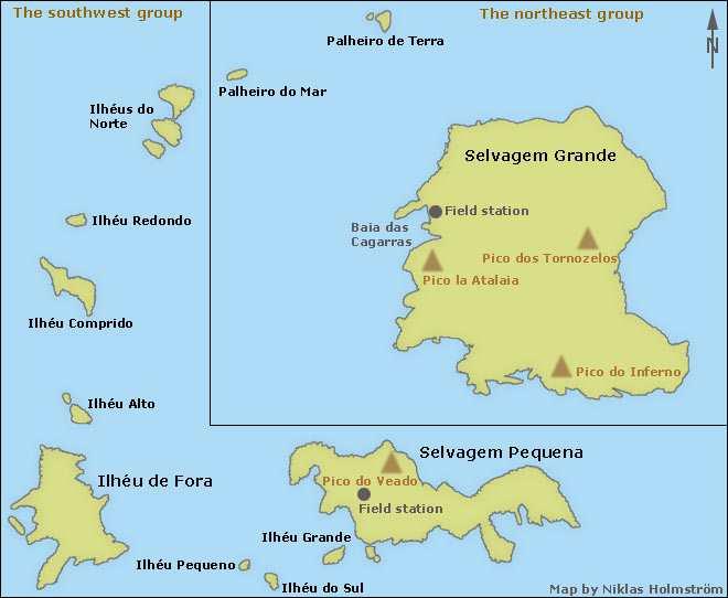 Kart Selvagensøyene
