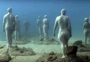 Lanzarote-skulpturpark-under-vann