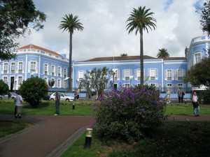 azorene, det blå huset