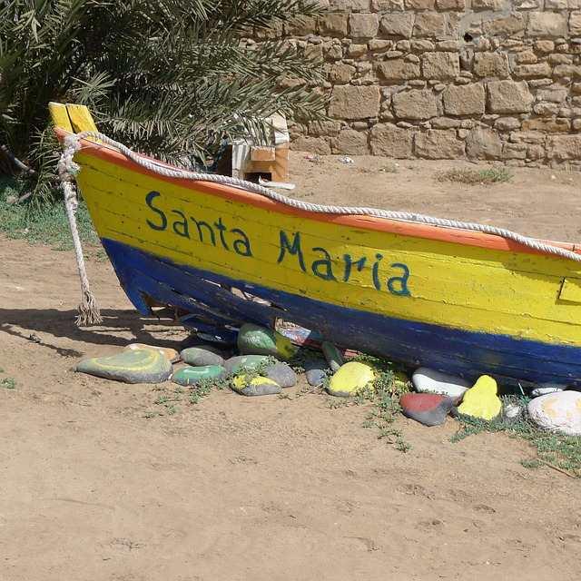 Båt Santa Maria, Sal, Kapp Verde