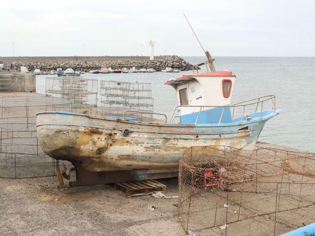 Fisketur på Gran Canaria - Castillo del Romeral godt brukt fiskebåt