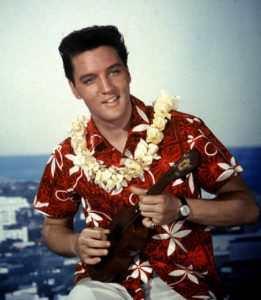 Elivis med Hawaiiskjorte - Hawaiiskjorter