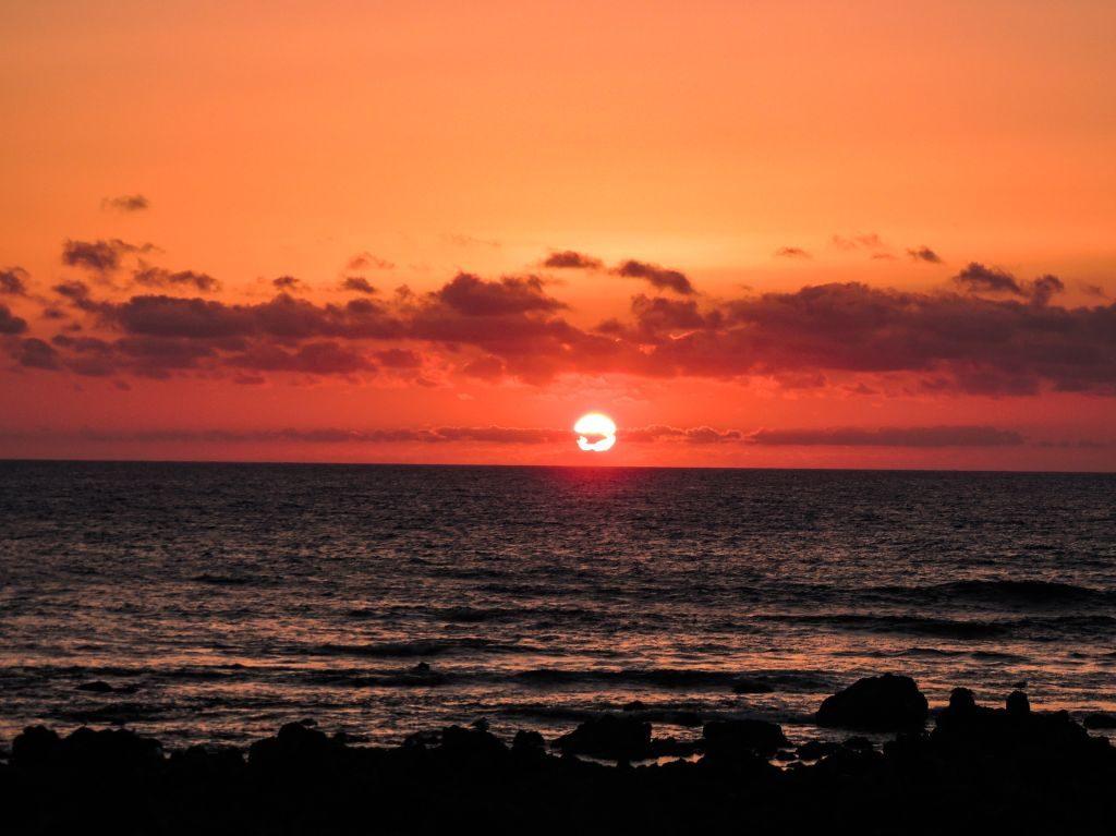 Lanzarote Solnedgang El Golfo