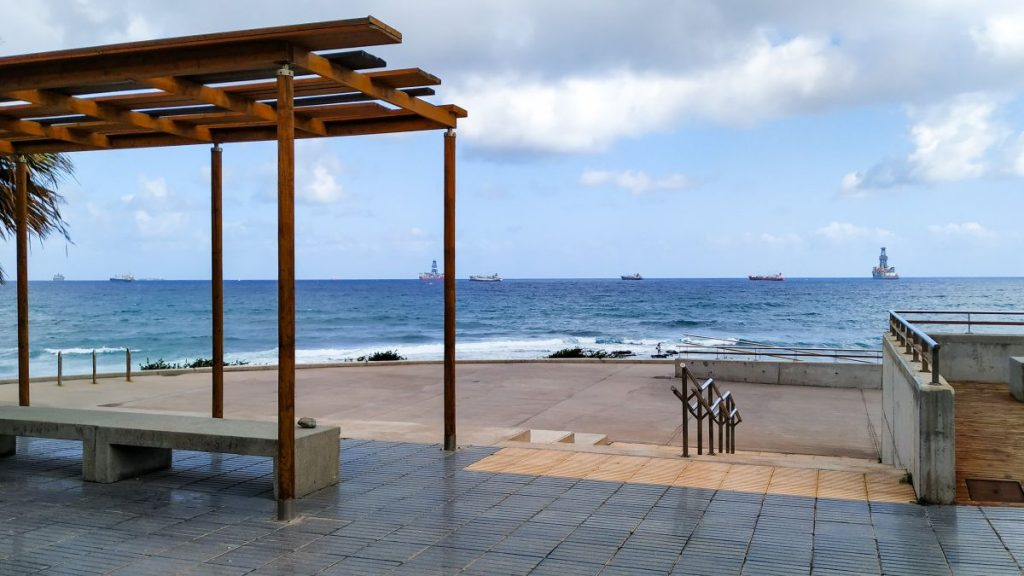Området ved havsbassengene ved Playa de La Laja Las Palmas Gran Canaria