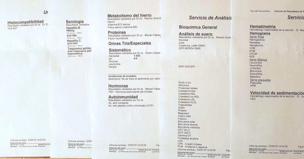 Resultat blodprøver - Sykehushistorier