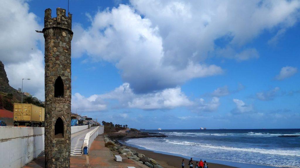 Vannskulptur ved Playa La Laja Las Palmas Gran Canaria