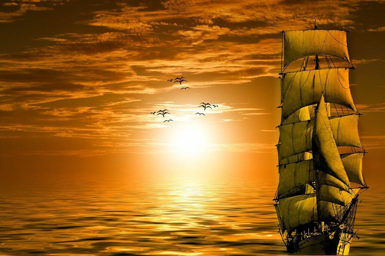 Solnedgang Desertasøyene foto Kalhh Pixabay